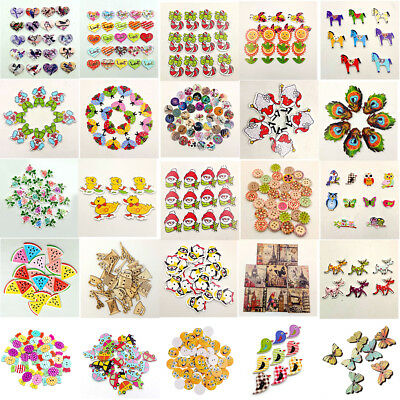 Wholesale 100pcs 2 Holes Wooden Sewing Button Craft Scrapbooking DIY Gift Latest