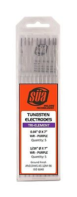 "SÜA - 2% Thoriated Tungsten Electrode - Mixed Sizes - 0.04"" & 1/16"" x 7"" Red Tip"