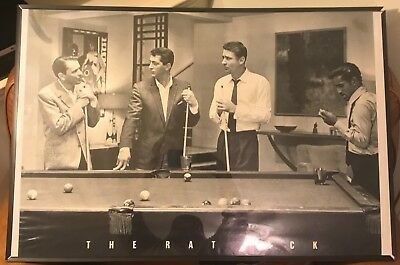 "The Rat Pack playing pool / Billiards 24 x 36"" Frank Sinatra Sammy Davis Jr"