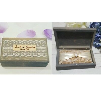 Rustic Wedding Ring Bearer Box Personalized Engage Brown Box With