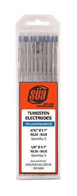 "SÜA  2% Lanthanated Tungsten Electrode Mixed Sizes 3/32"" & 1/8"" x 7"" Blue Tip"