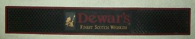"DEWAR'S Finest Scotch Whiskies Rubber Bar Rail Spill Mat 23 1/4"" X 3 1/2"""