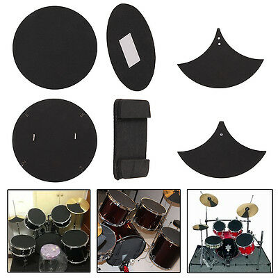 10x Professional Durable Bass Snare Drum Mute Silencer Drumming Practice Pad NEW