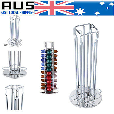 360° Rotating 40 Capsules Coffee Pod Holder Tower Stand Rack for Nespresso AUS
