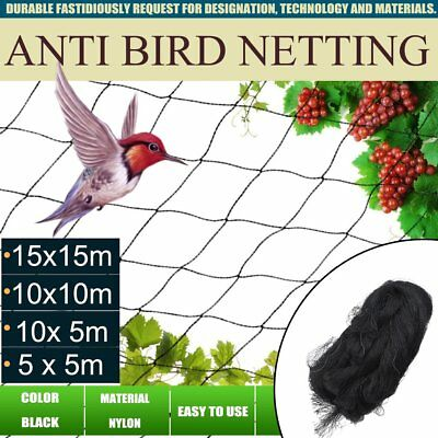 4 Sizes Nylon Forest Garden Protective Anti Bird Netting Poultry Fish Net  AU