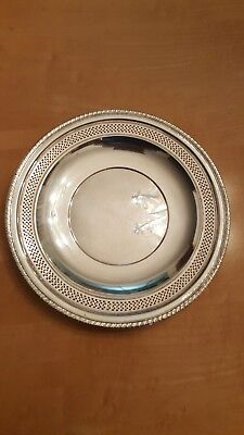 Cartier Sterling Silver Plate 218 Grams And 9'' 3/4 Inches Diameter.