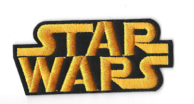 STAR WARS LOGO IRON ON / SEW ON PATCH Embroidered Badge Motif MOVIE PT105