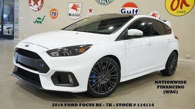 2016 Ford Focus 16 FOCUS RS AWD,6 SPD TRANS,BACK-UP CAM,RECARO,SYN 16 FOCUS RS AWD,6 SPD TRANS,BACK-UP CAM,RECARO,SYNC,19IN WHLS,7K,WE FINANCE!!