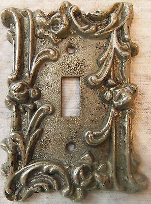 Vintage Light Switch Plate Cover Rose Cast Metal 1967 American Tack And Howe Co.