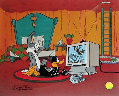 """JUST FUR LAUGHS"" Ltd Ed Cel w/Bugs Bunny & Daffy Duck by CHUCK JONES w/COA"