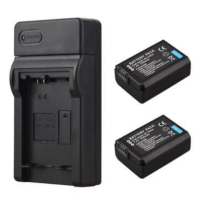 2x 1500mAh NP-FW50 Battery + Charger For Sony Alpha 7 a7 7R a6000 NEX-5N 5C Cam