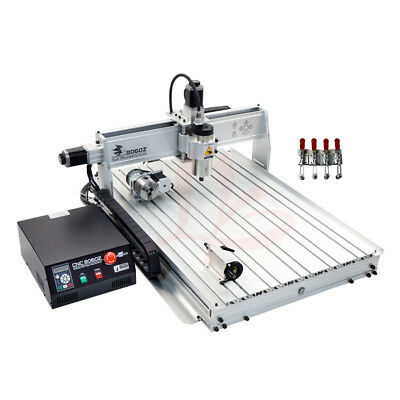 CNC 8060 4 Axis 1500W USB MACH3 Wood Router Metal PCB Engraving Cutting Machine