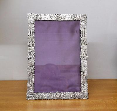 antique Dutch sterling silver photograph frame hand made 335 x 235 mm restored