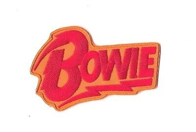 BOWIE IRON ON / SEW ON PATCH Embroidered Badge MUSIC DAVID BOWIE PT216