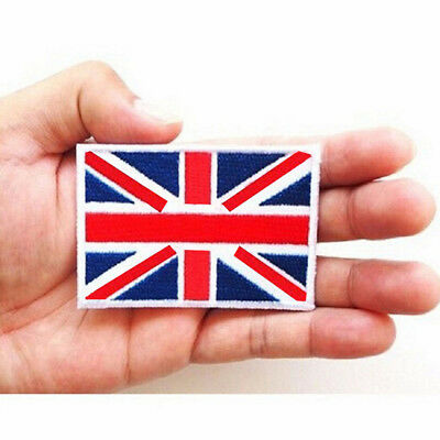 2 UK Flag Embroidered Iron/Sew On  Patch United Kingdom Badge Transfer、2018