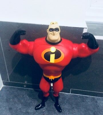 "DiSNEY MR INCREDIBLE 14"" ACTION FIGURE with SOUNDS AND MOUTH AND CHEST MOVEMENTS"
