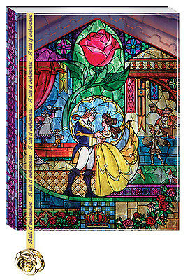 Disney Beauty and the Beast Journal with Rose Charm Bookmark FREE SHIPPING (US)