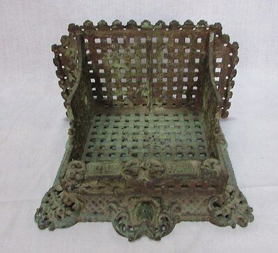 Old Antique Original Unique Iron Victorian For Matches / Candle Stand