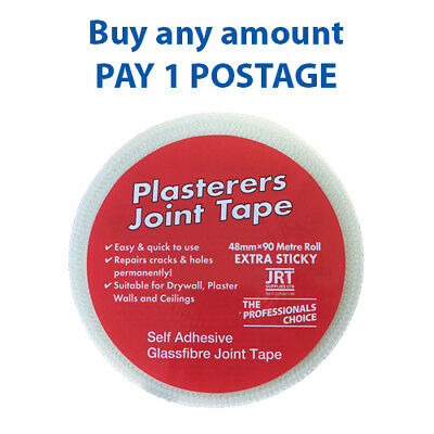 Everbuild Euroscrim Mesh Plasterboard Joint Scrim Tape BUY ANY AMOUNT 1X POSTAGE