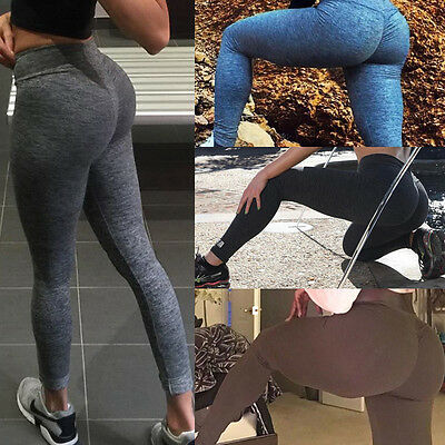 Women High Waist Yoga Fitness Leggings Running Gym Sports Pants Trousers USSTOCK