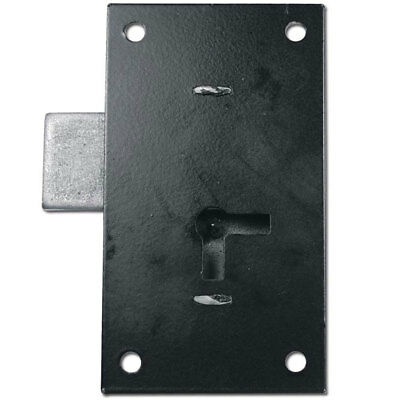 Asec No 155 1 Lever Straight Cup Lock 102mm BLK KA (AS6555)