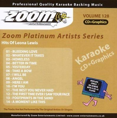 Zoom Karaoke Platinum Artists Series 128 Hits Of Leona lewis CD + G New Sealed