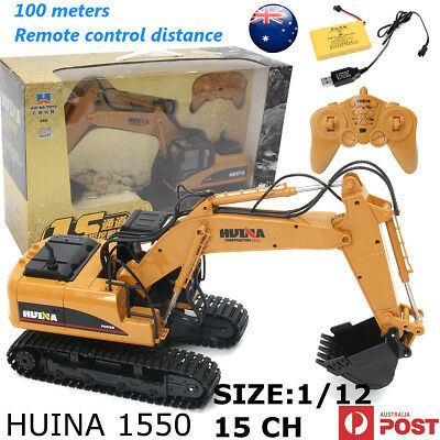HUINA RC Toy Alloy Excavator RTR Bulldozer Car 1:12 2.4GHz 15CH Engineering Car