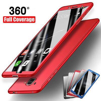 For Huawei Mate 10 Pro / Lite/P10 360° Protection Hard Case+Tempered Glass Cover