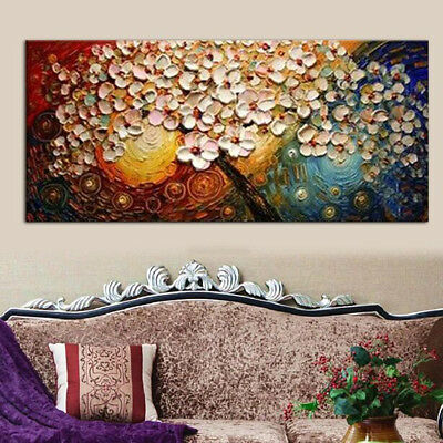 Unframed Large Flower Tree Canvas Painting Print Picture Art Unframed Home Decor