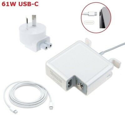"61W Power Adapter Charger For Apple Macbook 13"" USB-C Type C Cable Power Supply"