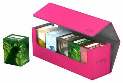 Ultimate Guard - Flip Case Archive 400+ Xenoskin Pink - Card Box Deck Boxing