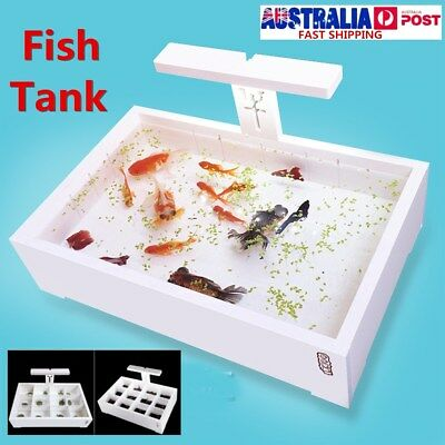Plastic Fish Tank Aquarium Reptile Turtle Hatchery Isolation Home Breeding Box