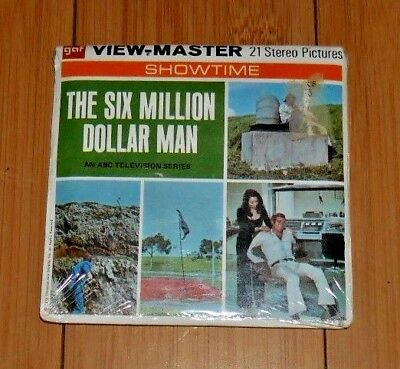 * Unopened * The Six Million Dollar Man 1974 Viewmaster Reels B559 Rare  A526