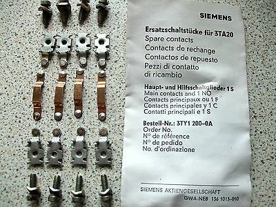 Siemans Replacement Contact Kit For 3Ta20,  3Ty1200-Oa Contactor
