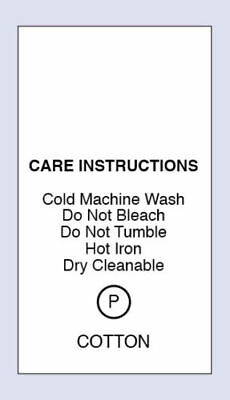 Cotton Gentle Cold Machine Wash Sewing Care Content Label 5 Packs Sizes