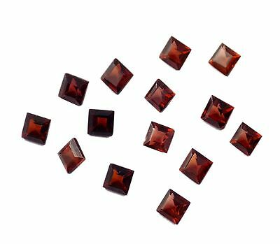Wholesale Lot 50 Pcs Rhodolite Red Garnet Square 4mm Normal Cut Loose Gemstone