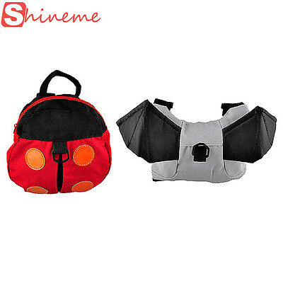 Toddler Kids Baby Safety Walking Harness Leash with Ladybird Backpack Child Bag