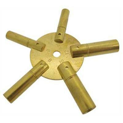 Key star 5 in 1 for pendulum and Clock no. 4 to 12 - star Clock Key