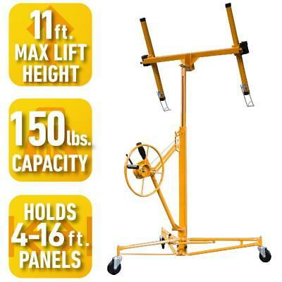 11ft Pro Series Drywall Panel Hoist Heavy Duty Steel Frame Lifter Rolling