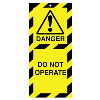 Poly Tag Do Not Operate 50mm (10) (RLTT01A)