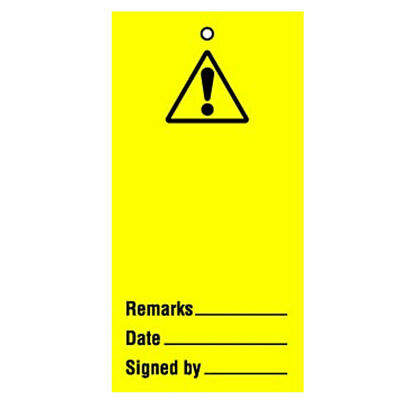 Lockout Tag Warning Blank (10) (RPT53AR)