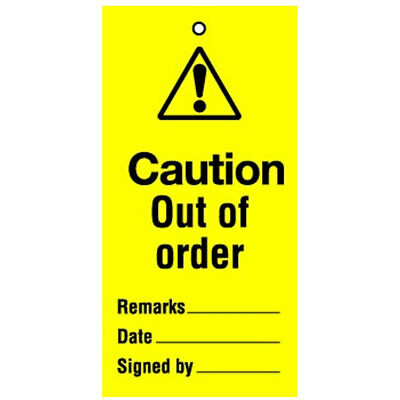 Lockout Tag Caution Out Of Order (10) (RWT40A)