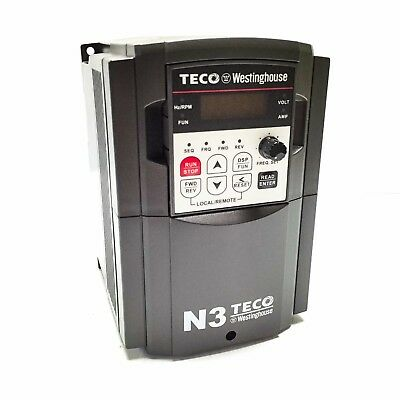Teco-Westinghouse N3-401-C-U Variable Frequency Drive, 460V 3-Phase In/Out