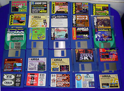 "25 X 3.5"" Floppy Demo Disk From Amiga Magazine Format, Cu, Action, Power ++ (6)"