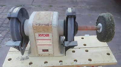 BENCH GRINDER RYOBI HBG8 USED WORKING CONDITION 200mm  3.5amp 620w PICKUP ONLY