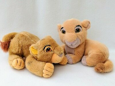 The Lion King Simba and Nala Soft Plush Toy Cuddly Teddy Pair