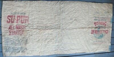 VTG 1920's REAL CHICKEN,DAIRY FEED,GLOBE STARCH BAGS QUILT,ESHELMAN,A.STICKELL