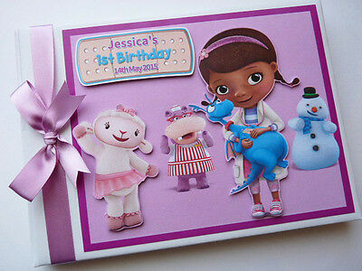 Personalised Doc Mcstuffins/girl /first/1St Birthday Guest Book Any Design