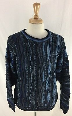 Nice Cellinni Mens Sweater Size Large Textured Coogi style Made In Italy