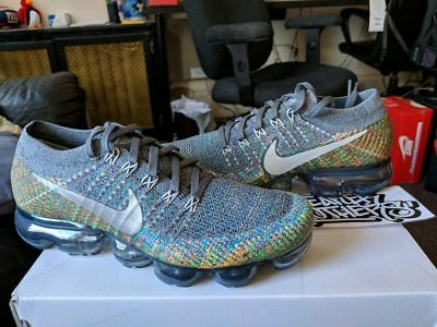 78c9a5024ea33 ... official nike air vapormax flyknit dark grey reflect silver multi color  3m 849558 019 47792 4f6f7